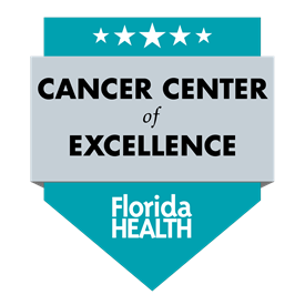 Florida Health Cancer Center of Excellence badge